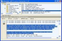 Captura Abander MP3 Lyrics Extractor