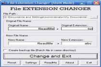 Captura File Extension Changer