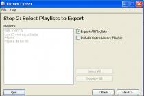 Captura iTunes Export